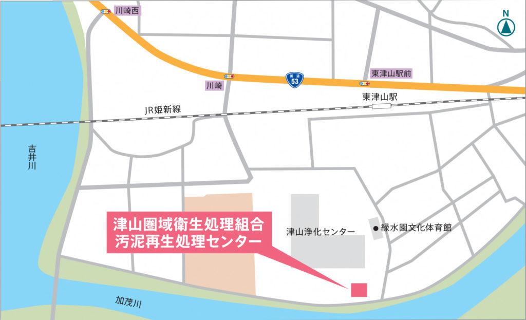 汚泥再生処理センター地図