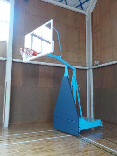 緑水園移動式バスケットゴール